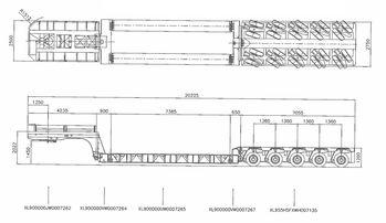 Модульный трал с передним заездом, грузоподъемность 70тонн
