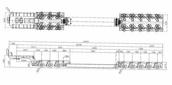Модульный трал с подкатной тележкой, грузоподъемность 120тонн